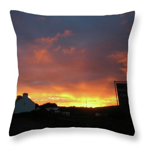 Landscape Throw Pillow featuring the photograph Doolin Co Clare Ireland by Louise Macarthur Art and Photography