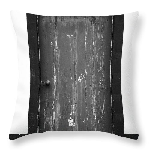 Closed Throw Pillow featuring the photograph Door by Gaspar Avila