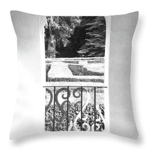 Door Labirynt Throw Pillow featuring the photograph Door In The Labirinth by Sylvie Art Riot