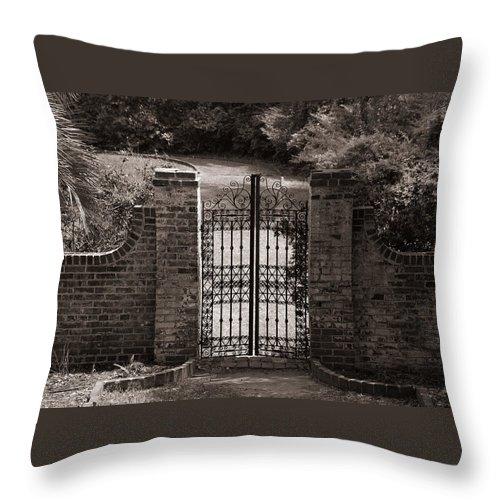 Door Photos Throw Pillow featuring the photograph Door To Eternity by Susanne Van Hulst