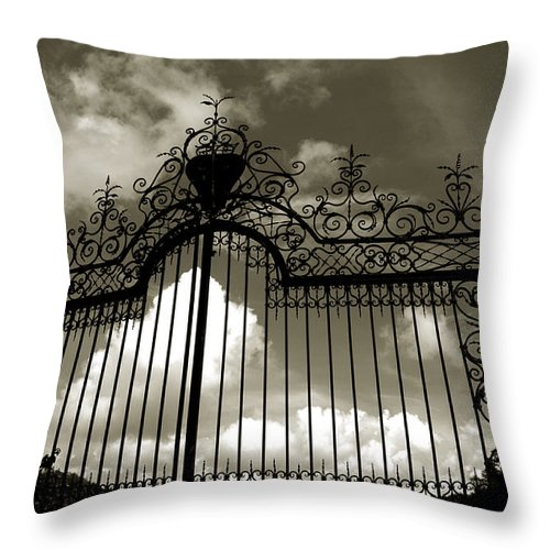 Doors Throw Pillow featuring the photograph Door To Heaven by Susanne Van Hulst