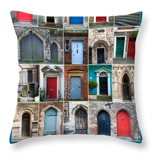 Doors Throw Pillow featuring the photograph Doors Of Lincoln by Naomi Tebbs