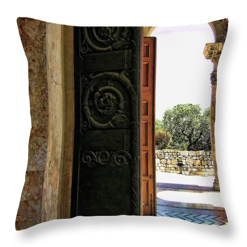 Doors Throw Pillow featuring the photograph Doors To All Nations by Douglas Barnard