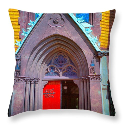 Gate To Heaven Throw Pillow featuring the photograph Doorway To Heaven by Mariola Bitner