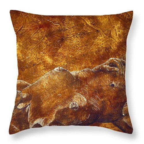 Nude Throw Pillow featuring the painting Dorothy Iv by Richard Hoedl