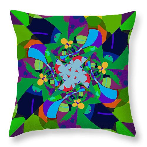 Jim Pavelle Throw Pillow featuring the digital art Dosey Doe by Jim Pavelle