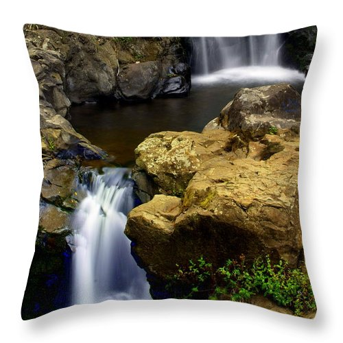 Waterfall Throw Pillow featuring the photograph Double Drop by Marty Koch