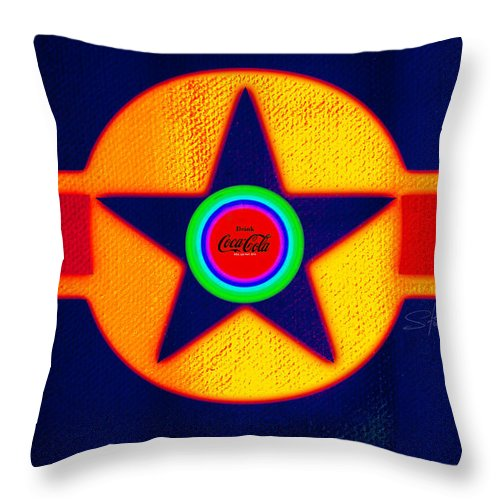 Usaaf Throw Pillow featuring the painting Double Red by Charles Stuart
