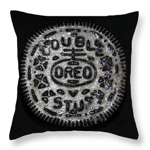 Oreo Throw Pillow featuring the photograph Double Stuff Oreo by Rob Hans