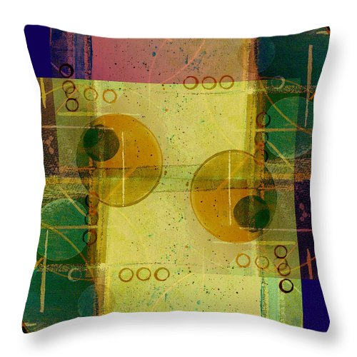 Abstract Throw Pillow featuring the digital art Double Vision by Ruth Palmer