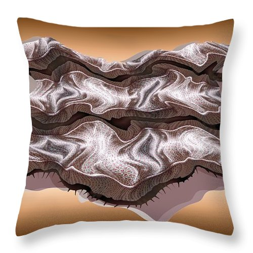 Abstract Throw Pillow featuring the digital art Doubt Its Redoubt by Ron Bissett