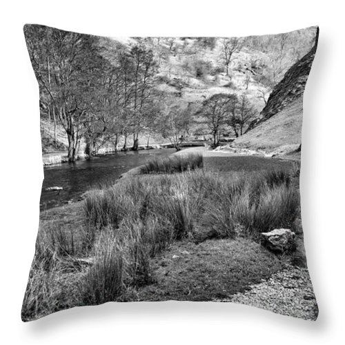 Dale Throw Pillow featuring the photograph Dovedale, Peak District Uk by John Edwards