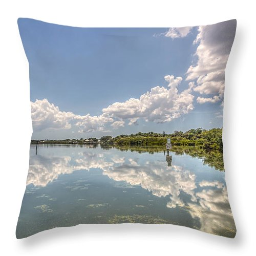 Florida Throw Pillow featuring the photograph Down The Bay by Jane Luxton