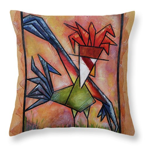 Down There Throw Pillow featuring the painting Down There by Bobby Jones