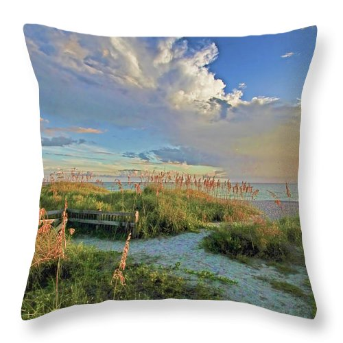 Anna Maria Island Florida Throw Pillow featuring the photograph Down To The Beach 2 - Florida Beaches by HH Photography of Florida