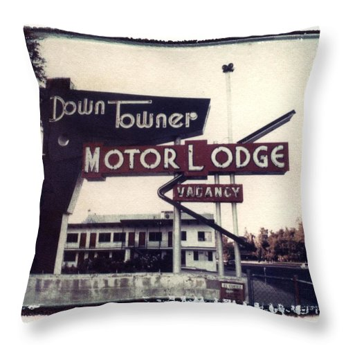 Landscape Throw Pillow featuring the photograph Down Towner by Jane Linders