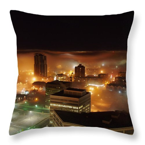 Photograph Calgary Throw Pillow featuring the photograph Downdown Calgary by Seon-Jeong Kim