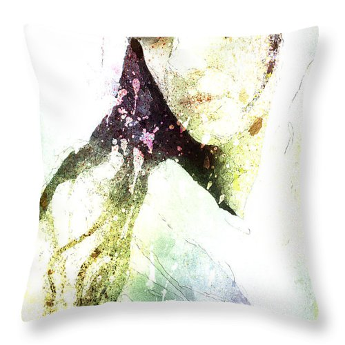 Painting Throw Pillow featuring the painting Downpour by Mac Adanc