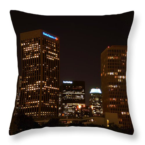Clay Throw Pillow featuring the photograph Downtown L.a. In Hdr by Clayton Bruster