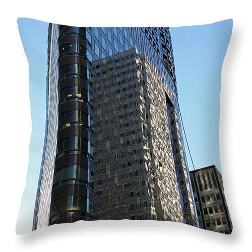 Reflections Throw Pillow featuring the photograph Downtown Reflections by Suzanne Gaff