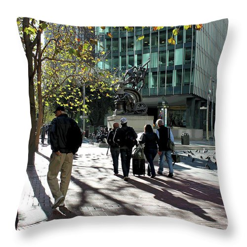 City Throw Pillow featuring the photograph Downtownscape by Suzanne Gaff