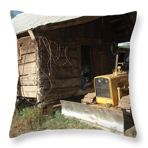 Bulldozer Throw Pillow featuring the photograph Dozin Off by Jerry McElroy