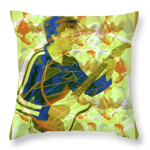 Dr. Guitar Throw Pillow featuring the photograph Dr. Guitar by Seth Weaver