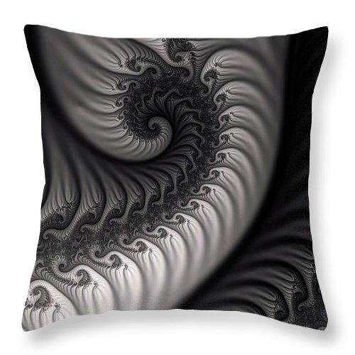 Clay Throw Pillow featuring the digital art Dragon Belly by Clayton Bruster