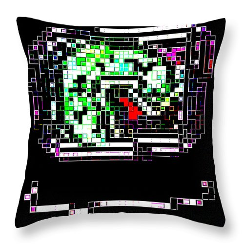 Square Throw Pillow featuring the digital art Dragon Brooch by Eikoni Images