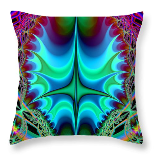 Fractal Throw Pillow featuring the digital art Dragon Egg by Frederic Durville