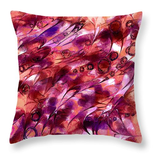 Abstract Throw Pillow featuring the digital art Dragon Hoard by Rachel Christine Nowicki
