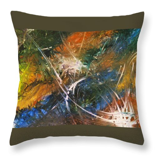 Dragon Throw Pillow featuring the painting Dragon by Kim Rahal