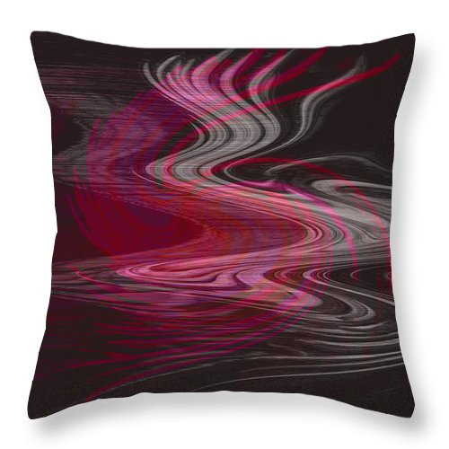 Abstract Throw Pillow featuring the digital art Dragon Queen by Linda Sannuti