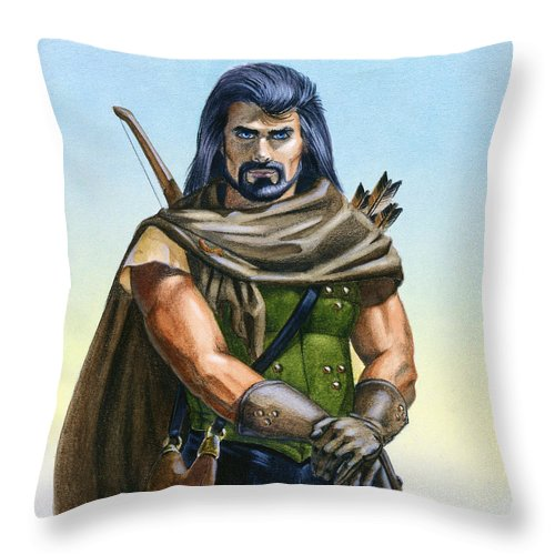 Ranger Throw Pillow featuring the painting Dragon Tracker by Melissa A Benson