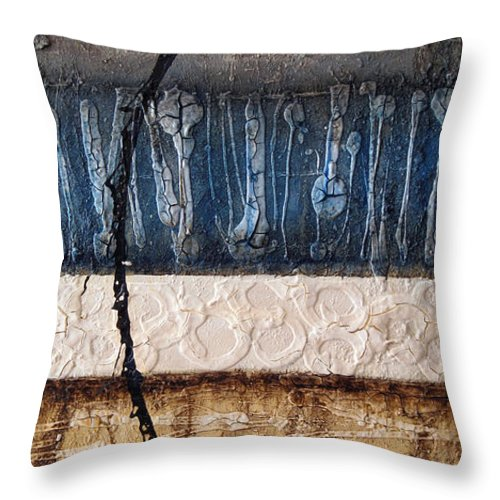 Abstract Throw Pillow featuring the painting Dragonfly 2 by Jill English