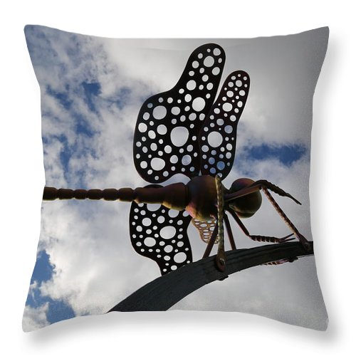 Dragonfly Throw Pillow featuring the photograph Dragonfly by Sandy Henderson