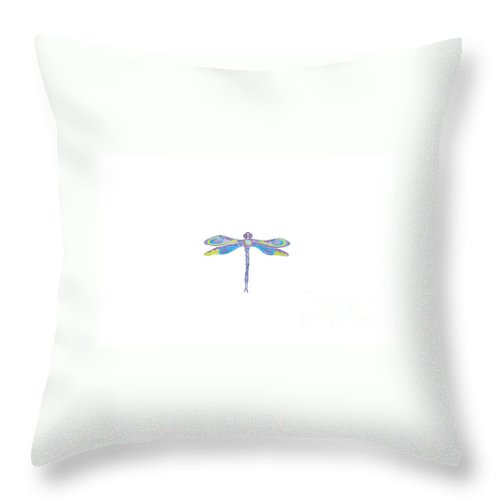 Dragonfly Throw Pillow featuring the digital art Dragonfly Spirit by Heather Hennick