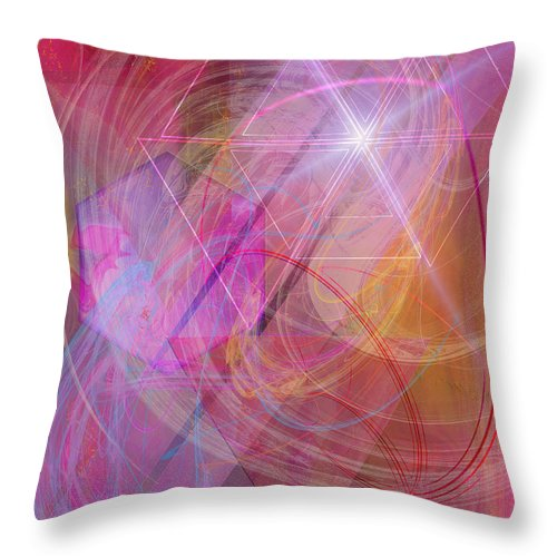Dragon's Gem Throw Pillow featuring the digital art Dragon's Gem by John Beck