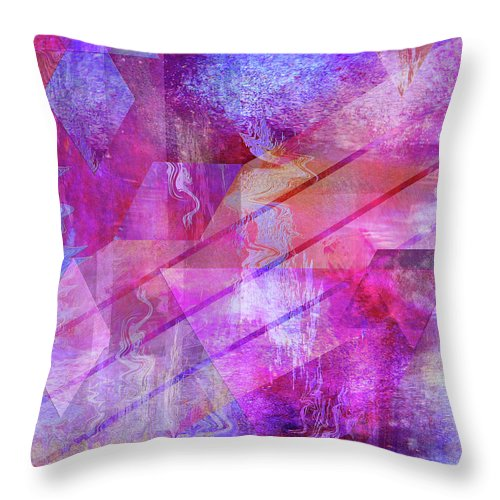 Dragon's Kiss Throw Pillow featuring the digital art Dragon's Kiss by John Beck