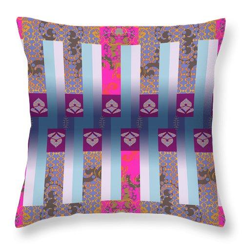 Hot Pink Throw Pillow featuring the digital art Drake by Ceil Diskin