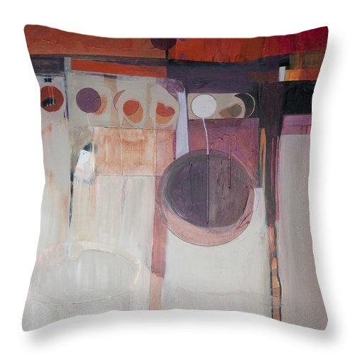 Abstract Throw Pillow featuring the painting Drama by Marlene Burns