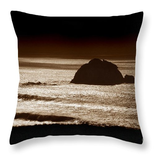 Big Sur Throw Pillow featuring the photograph Drama on Big Sur by Michael Ziegler