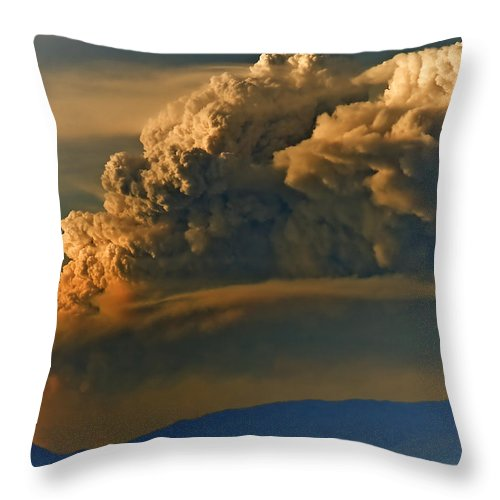 Clouds Throw Pillow featuring the photograph Dramatic Clouds by Naman Imagery