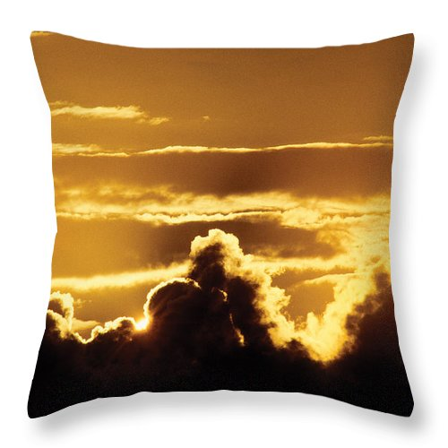 Nature Throw Pillow featuring the photograph Dramatic Sky by Steve Somerville