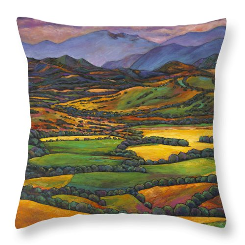 European Landscape Throw Pillow featuring the painting Draped In A Dream by Johnathan Harris