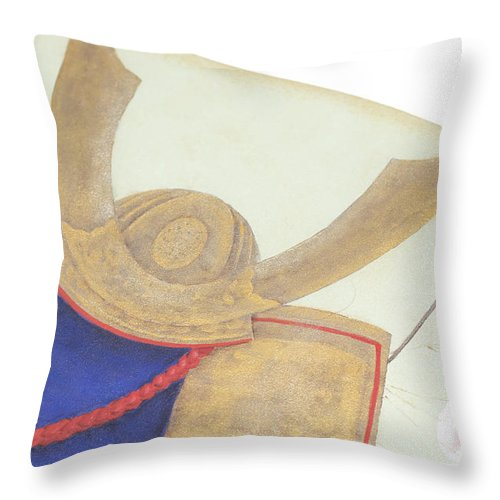 American Throw Pillow featuring the photograph Drawing For Boys Anniversery In May In Japan, Tole And Decorativ by Eiko Tsuchiya