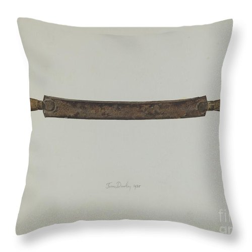 Throw Pillow featuring the drawing Drawshave by Thomas Dooley