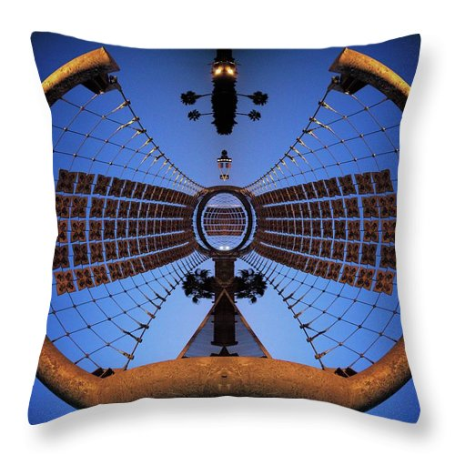 Abstract Throw Pillow featuring the photograph Slingshot by Rachel Dunn