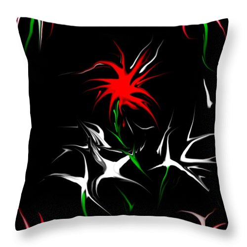 Abstract Throw Pillow featuring the digital art Dream Garden II by David Lane