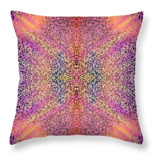 Mandala Throw Pillow featuring the digital art Dream Keeper by Suzi Freeman